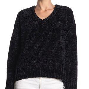 Sanctuary V-Neck Chenille V Neck Pullover Sweater
